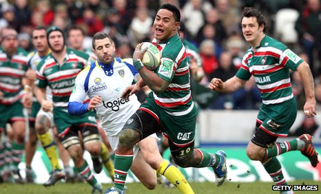 Manu Tuilagi's try helped Leicester secure a vital win