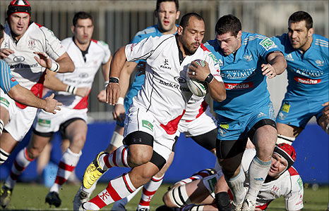 Man-of-the-match John Afoa on the attack for Ulster against Aironi