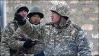 Security forces in Zhanaozen, Saturday 17 Dec 2011