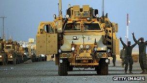 Last US troops in Iraq prepare to cross Kuwait border. 17 Dec 2011