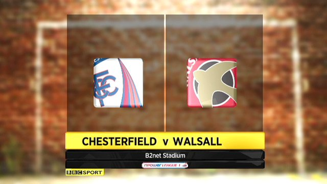 Highlights - Chesterfield 1-1 Walsall
