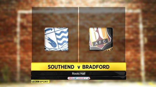 Highlights - Southend United 0-1 Bradford City