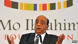 Mo Ibrahim photographed in October 2011