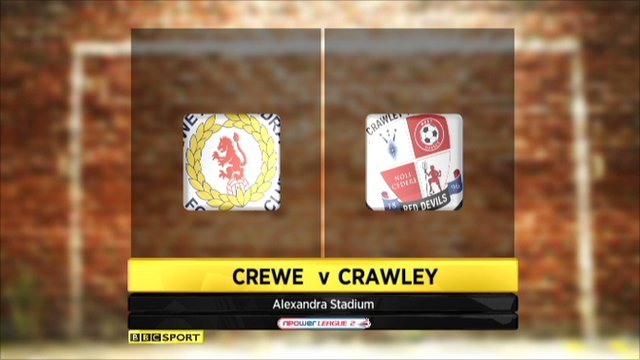 Crewe 1-1 Crawley Town