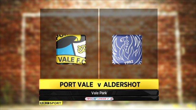 Port Vale 4-0 Aldershot