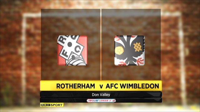 Rotherham 1-0 AFC Wimbledon