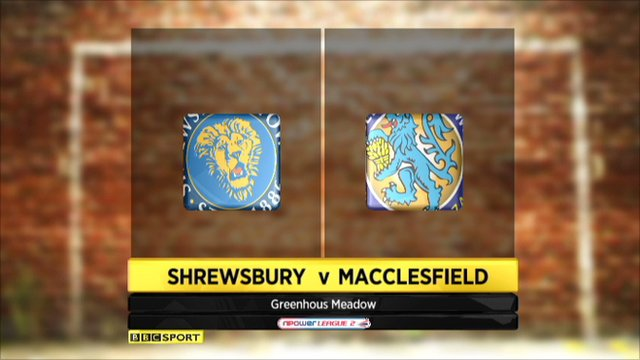 Shrewsbury 1-0 Macclesfield