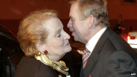 Former US Secretary of State Madeleine Albright with Vaclav Havel in 2003