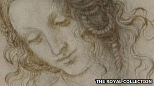 Leonardo da Vinci drawing of a woman