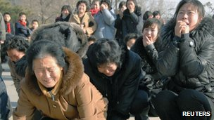 North Korean's mourning the death of Kim Jong-il