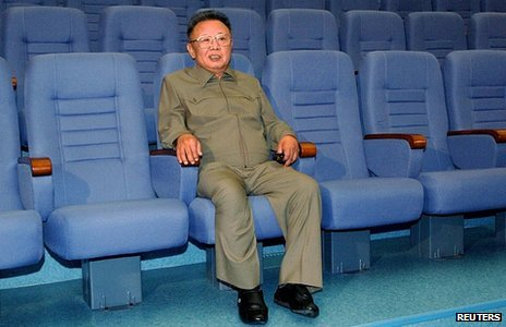Kim Jong-il in Pyonyang&#039;s State Theatre, October 2009