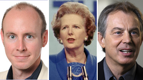Daniel Hannan, Margaret Thatcher and Tony Blair