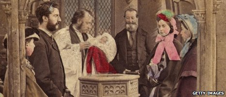 A Victorian Christening ceremony