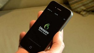Dragon dictation iPhone app