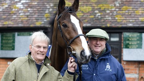 Clive Smith with Kauto Star and Paul Nicholls