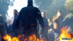 Protesters in Damascus. Photo: 19 December 2011