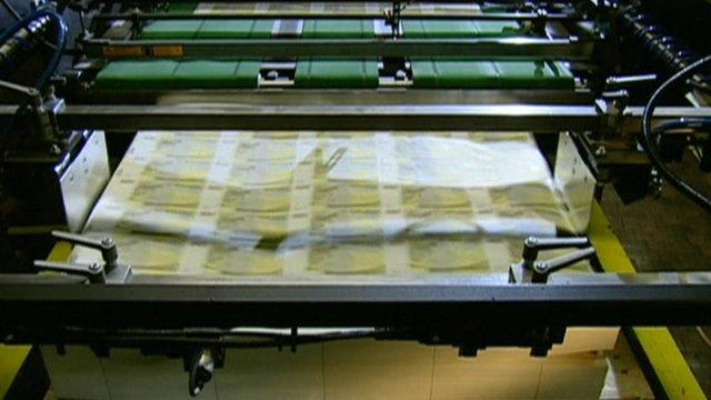Euros being printer