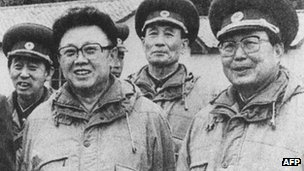 Kim Jong-il, pictured during a visit to an army unit in December 1996