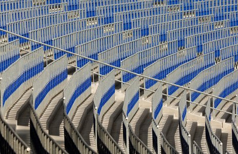 Rail seating at Bundesliga club Hannover