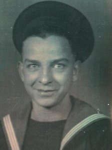 A 17 year old Norman in the navy blue uniform of the Home Fleet