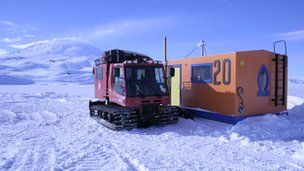 The team's dive hut in Antarctica