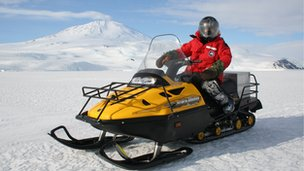 Kathryn Jeffs on a skidoo