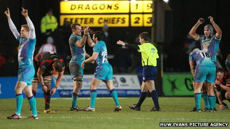 Dragons v Exeter