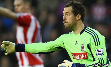 Stoke City and Denmark goalkeeper Thomas Sorensen