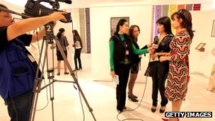 Filming of the Uzbek TV show