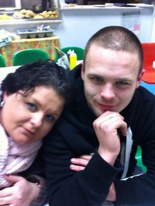 Haydn Evans and his mother, Lyndsay Bell