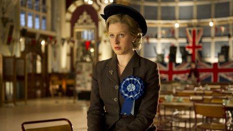 Alexandra Roach as a young Margaret Thatcher