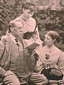Dickens with his daughters