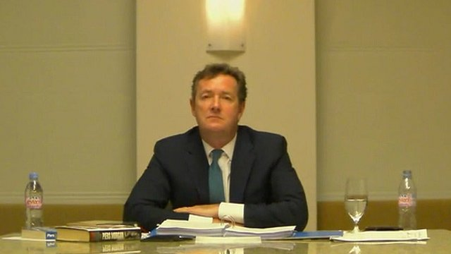 Piers Morgan gives evidence to the Leveson Inquiry