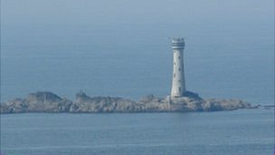 The ship was wrecked just 300 yards from the Hanois Lighthouse off the island's south west coast