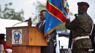 President Joseph Kabila takes the oath (20 December 2011)