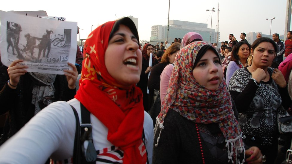 bbc news   in pictures egyptian women march