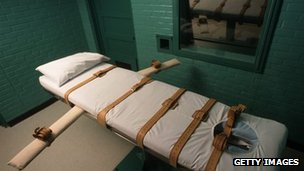 Chamber for lethal injections in Huntsville, Texas (file image)
