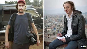 Left: Johan Persson (Photo credit: AFP/Scanpix/ Kontinent Agency). Right: Martin Schibbye (Photo credit: AFP / Scanpix/Kontinent Agency/Jonas Gratzer