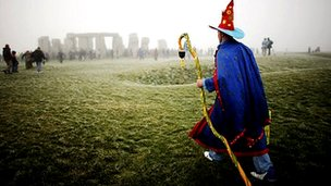 Archive image - Winter solstice at Stonehenge,