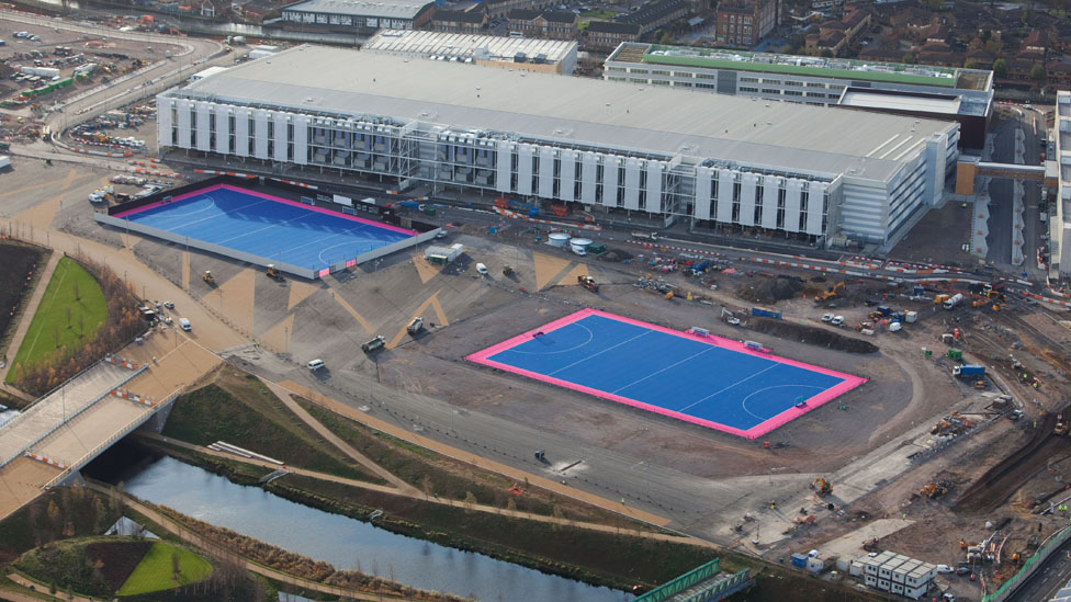Bbc News In Pictures London 2012 Olympic Park Aerial Photos