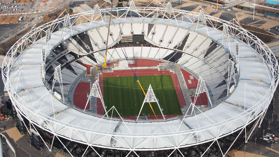 Aerial Shot Of The Olympic Stadium In Park Stratford Picture Taken On