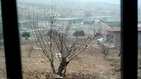 Video posted online purportedly showing troops in the Jabal al-Zawiya area on 18 December 2011 (21 December 2011 )