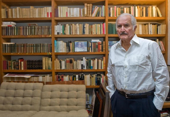 Carlos Fuentes at home, 6 November 2008