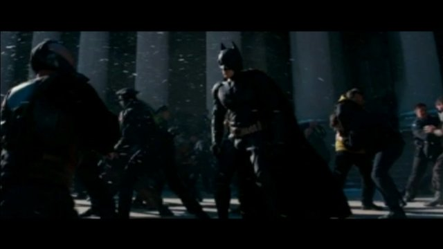 A scene from Batman: The Dark Knight Rises