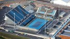 Aerial shot of one of the tennis courts at Eton Manor in the Olympic Park, Stratford, picture taken on 5 December 2011 by Anthony Charlton