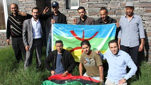Amazigh former fighters from the Jadu Brigade