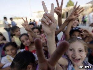 Children at an Amazigh school in Jadu