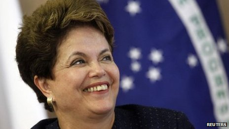 Brazilian President Dilma Rousseff on 15 December 2011