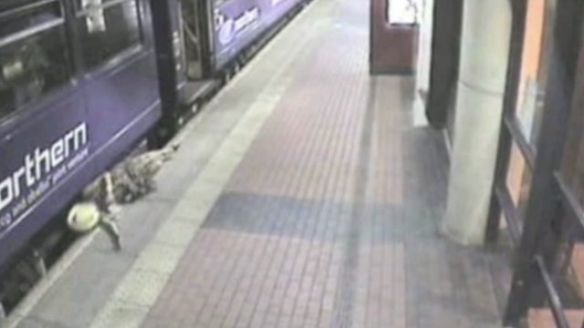 CCTV image at Barnsley station