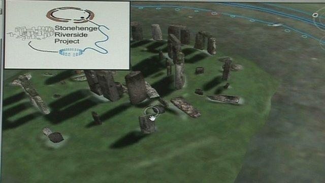 Virtual Neolithic Stonehenge map